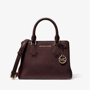 Michael Kors Camille Leather Satchel Crossbody Bag